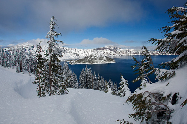 Crater Lake in February