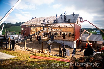 Amish Barn Raising in Walnut Creek