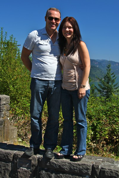 Paul and Deb at a lookout point on the gorge