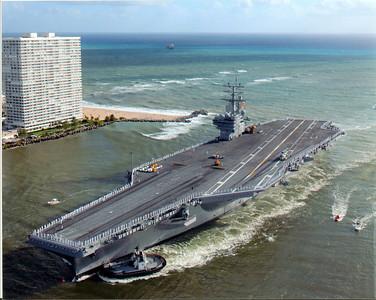 USS Ronald Reagan Port Everglades 11-11-03