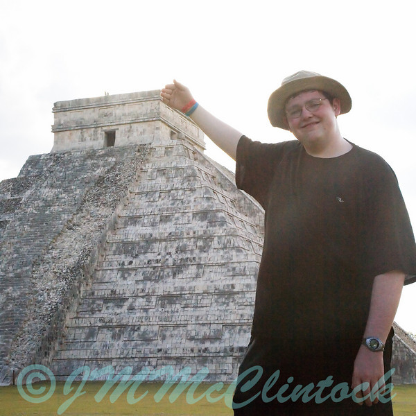Stephen and the pyramid.
