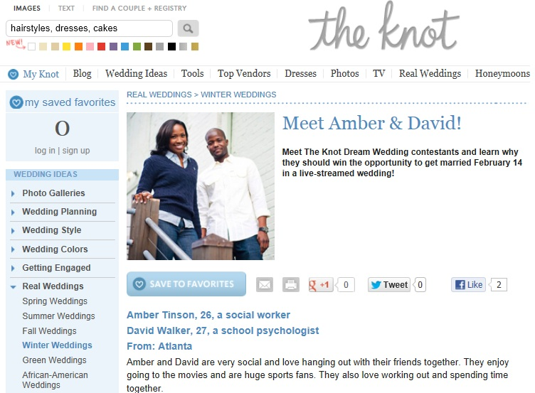 Amber & David on The Knot Dream Wedding | Fotos by Fola | Atlanta Wedding Photographers