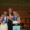 Harry Mc Cavock (MC) with boxers Gary Maginn and John Kerr. 06W27S23