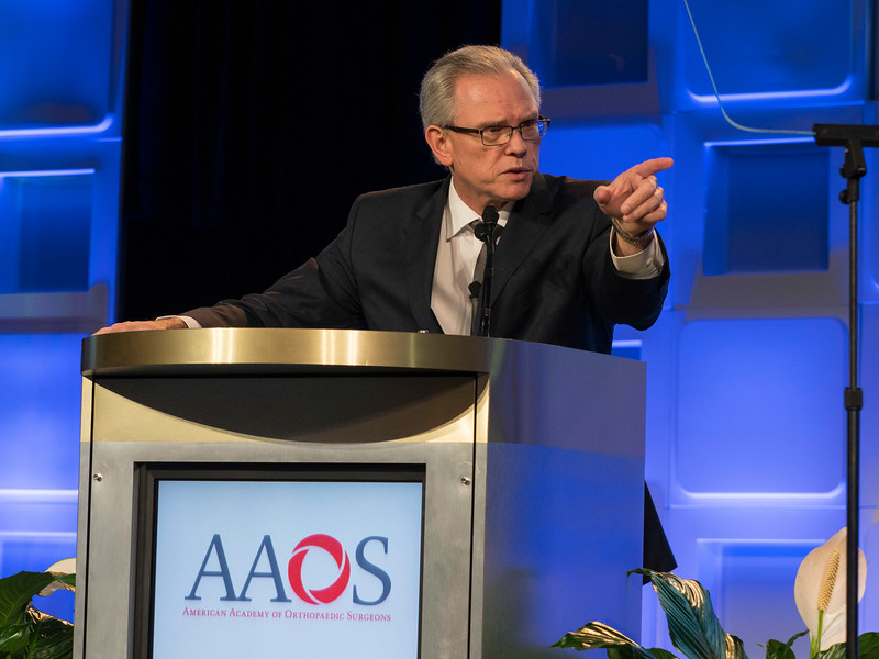 AAOS President Williams speaks during Business Meeting