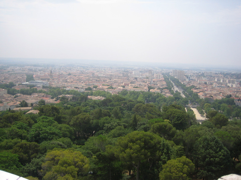 View at the top of the tower Location - Nimes