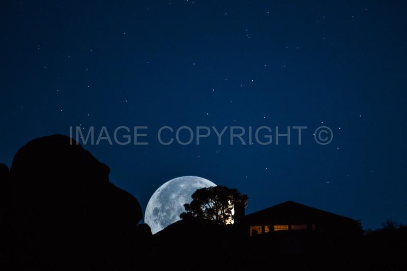 Full Moonset over Black Mountain