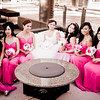 Pink bridesmaid dresses :