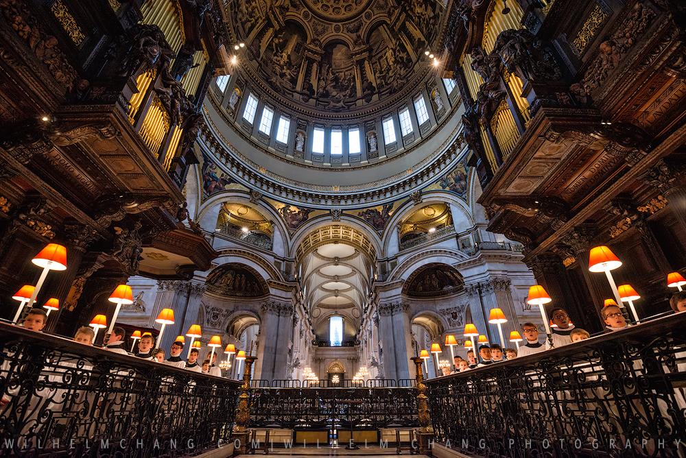 倫敦聖保羅大教堂唱詩班聖誕彩排攝影紀錄 by 旅行攝影師張威廉