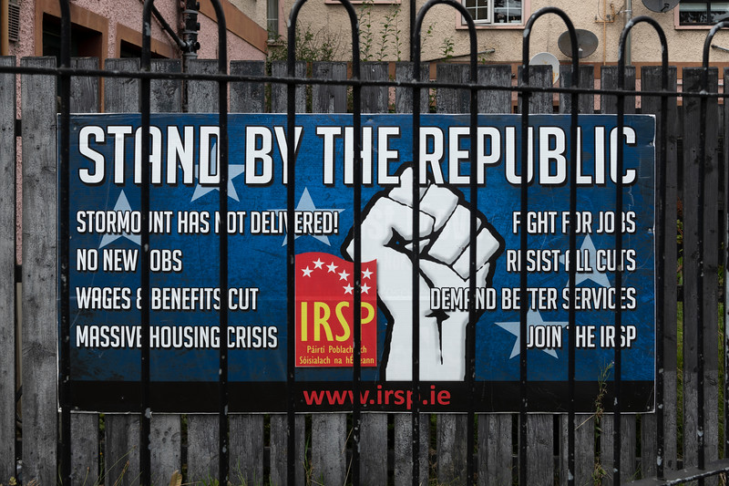 Close-up of a political poster, Free Derry, Londonderry, Northern Ireland, United Kingdom