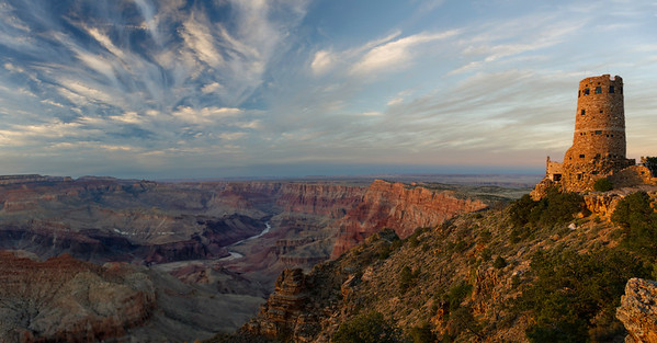 The Grand Canyon NP,  split into 5 areas