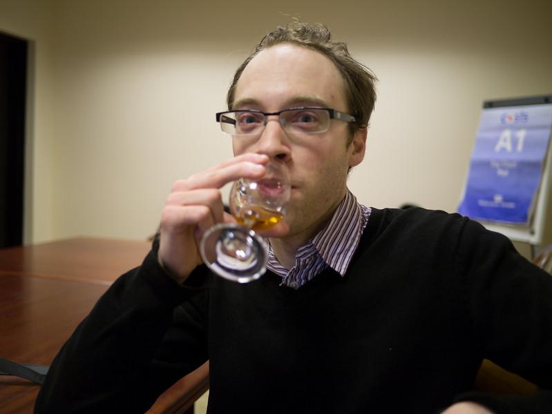 Dan having a taste
