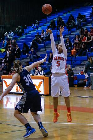 Girls Varsity Basketball v Washington Lee 2/13/15