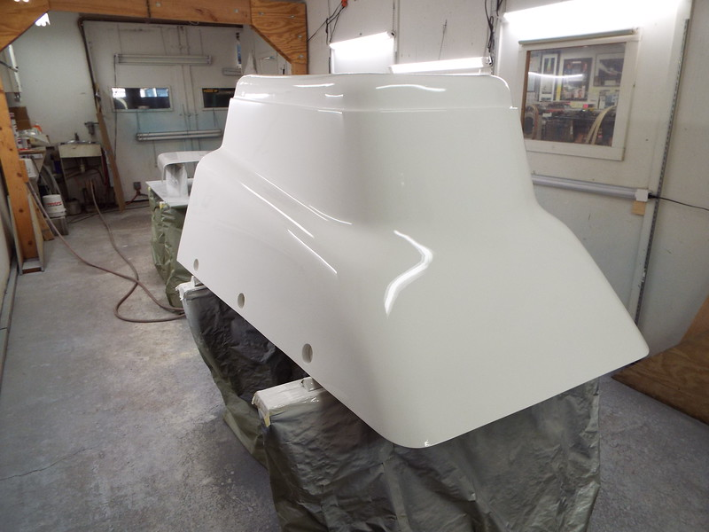 Rear port view of he painted engine box.