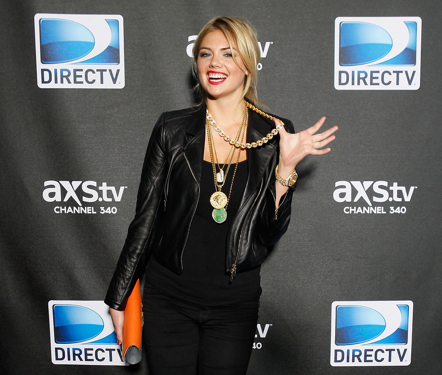 . NEW ORLEANS, LA - FEBRUARY 02:  Model/Actress Kate Upton attends DIRECTV Super Saturday Night Featuring Special Guest Justin Timberlake & Co-Hosted By Mark Cuban\'s AXS TV on February 2, 2013 in New Orleans, Louisiana.  (Photo by Skip Bolen/Getty Images for DirecTV)