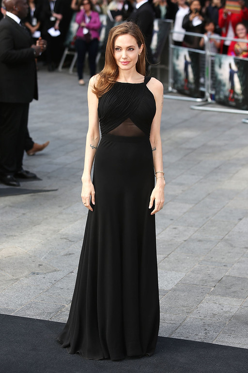 . Angelina Jolie attends the World Premiere of \'World War Z\' at The Empire Cinema on June 2, 2013 in London, England.  (Photo by Tim P. Whitby/Getty Images)