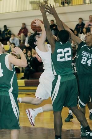 varsity basketball action