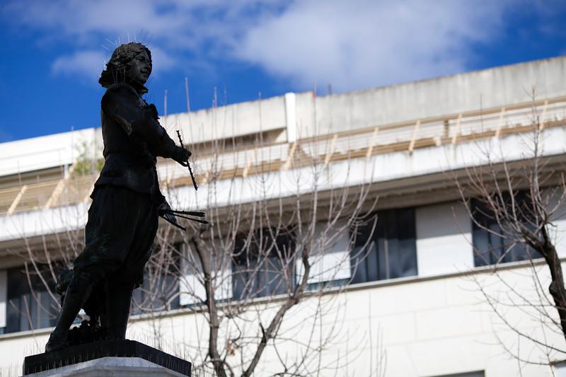 Statue of the painter Velazquez, Plaza del Duque, Seville, Spain