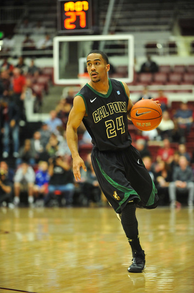 Cal Poly Men's Basketball at Stanford. Dec. 29, 2013. Photo by Ian Billings