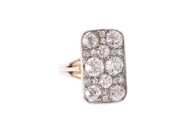 Edwardian Platinum, 18K and 3.75ctw Diamond Cobblestone Ring