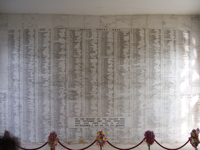 Names of the men and women who were lost that day.
