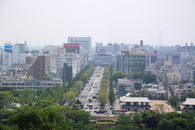 The centre of Himeji
