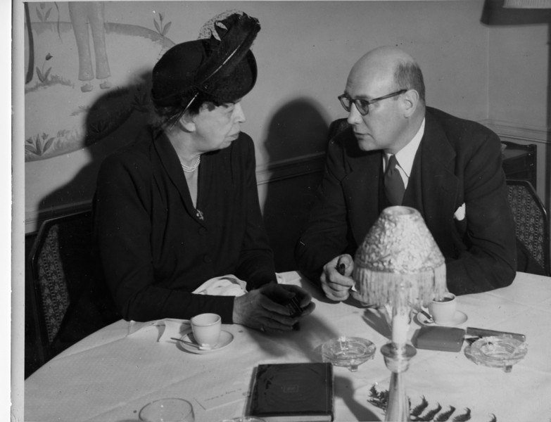 Eleanor Roosevelt & Lawrence J. Linck at International Society for Rehabilitation of the Disabled, 19??