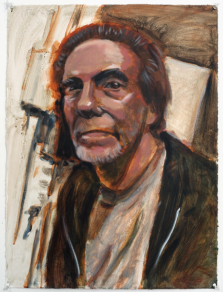 Portrait study - John C Moore, acrylic on paper, 22 x 30 in, 2005