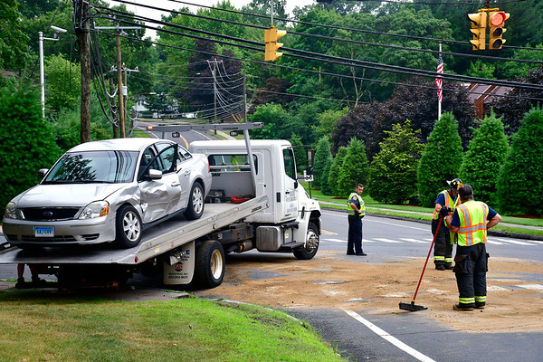 7/18/2019 Mike Orazzi | Staff The scene of a two-car crash at the intersection of Stafford Avenue and Stevens resulting in one person being transported to an area hospital. Both vehicles were towed from the scene.