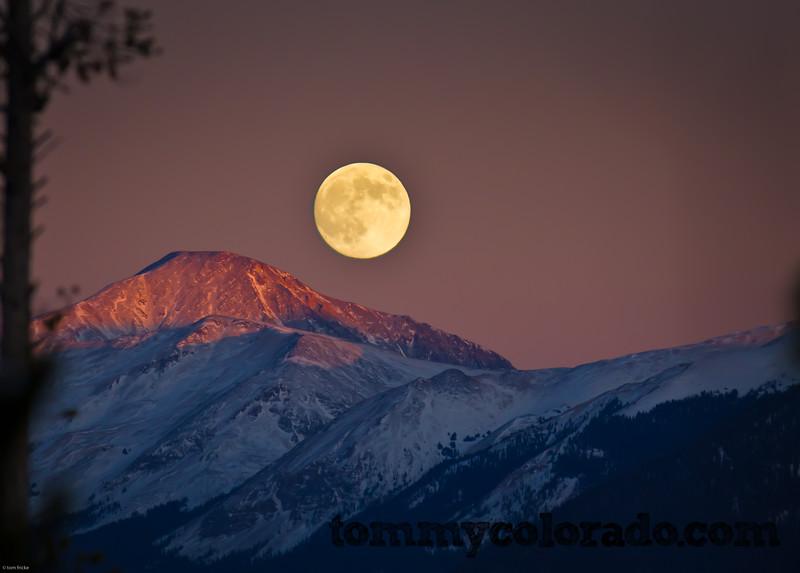 Moonrise in Summit County, Colorado