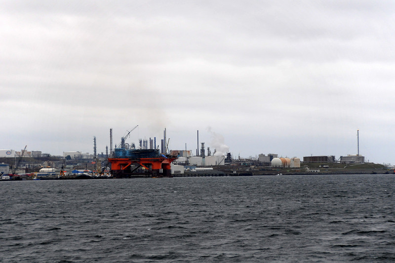 View of Dartmouth refinery from the Ferry Boat