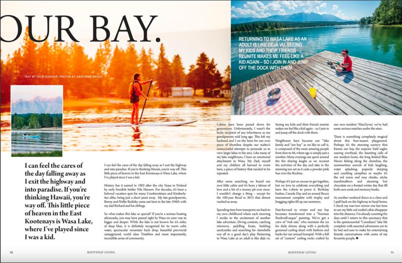 Kootenay Living Magazine, Summer 2018