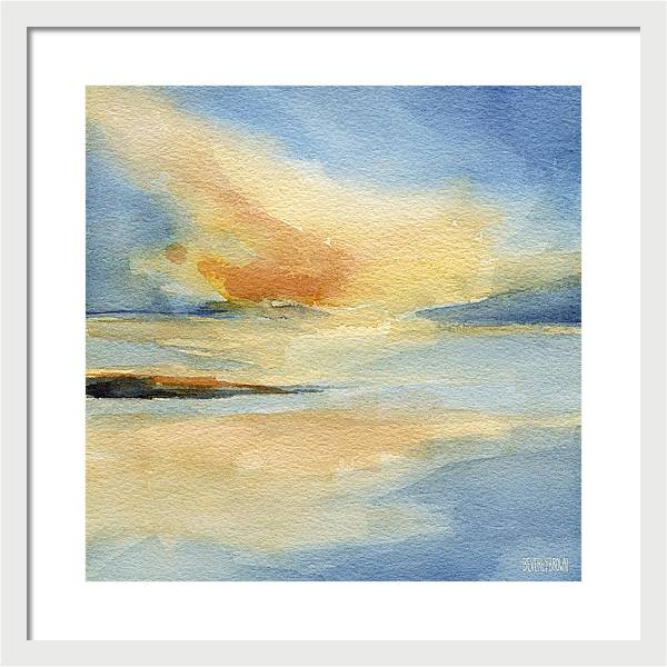 Sunset Seascape Painting Giclee Print by Beverly Brown