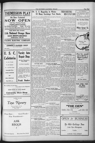 The Southern California Trojan, Vol. 12, No. 49, January 12, 1921