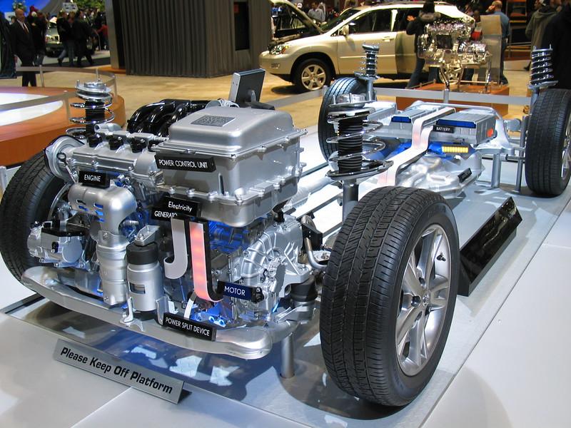 Hybrid engine frame