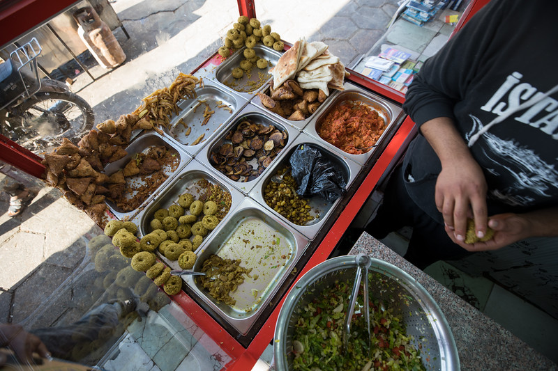Falafel shop in Basra, Southern Iraq.