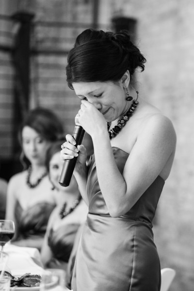 Wedding Reception at the Prairie Street Brewhouse along the river in Rockford, IL.  Wedding photographer – Ryan Davis Photography – Rockford, Illinois.