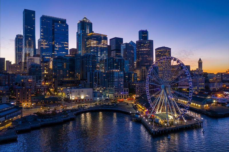 Cityscapes / Seattle Aerial / Seattle Waterfront