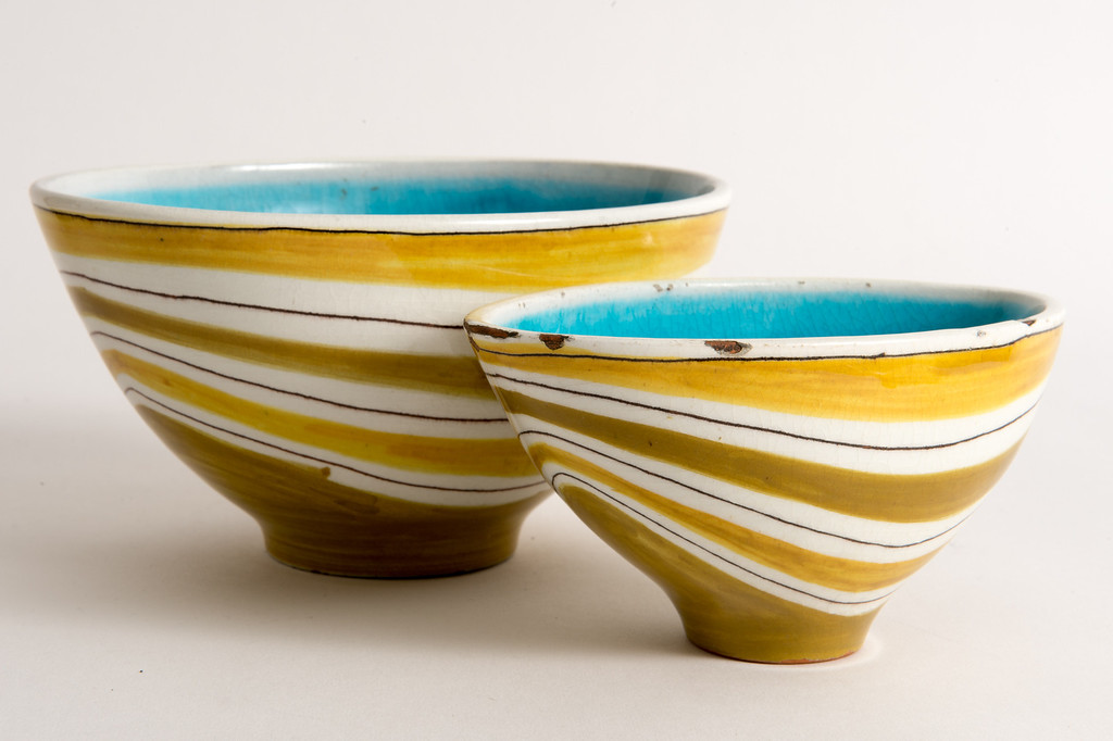 . A 1960s Swiss ceramic bowl for sale on Hunters Alley new website. Hunters Alley launches its new resale website January 22 with a selection of pre-owned furnishings and art starting at $25. (Photo by Michael Owen Baker/L.A. Daily News)