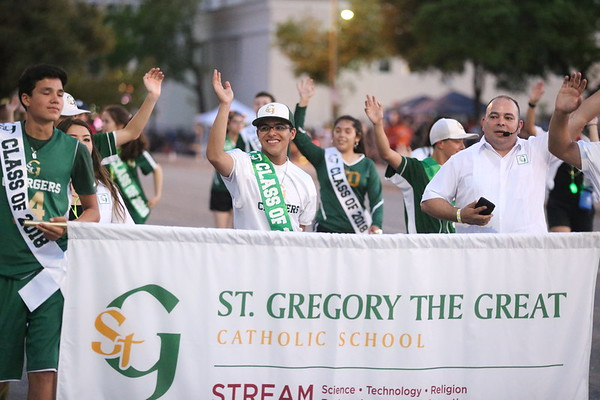 St Gregory at Fiesta Flambeau (Night Parade)