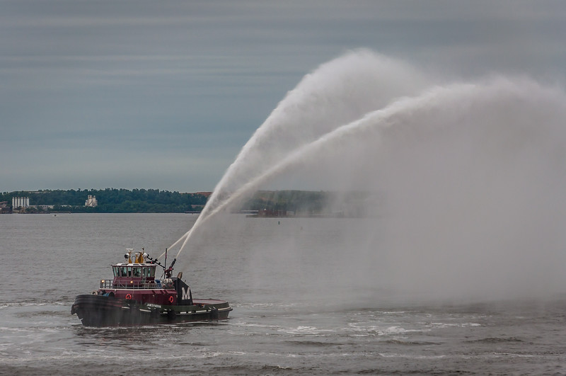 Tugboat James R Moran with Water Cannons, Baltimore Harbor, MD