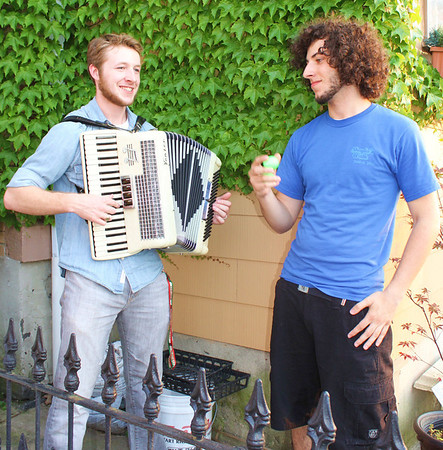 Two Guys Playing Music, West Broad Street, Tamaqua (6-21-2011)
