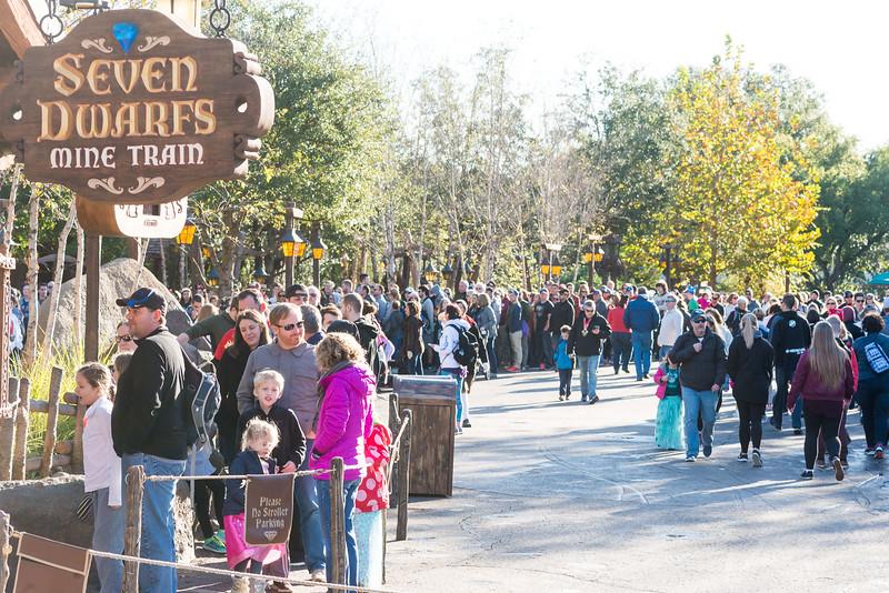 Seven Dwarfs Mine Train Crowds - Magic Kingdom Walt Disney World