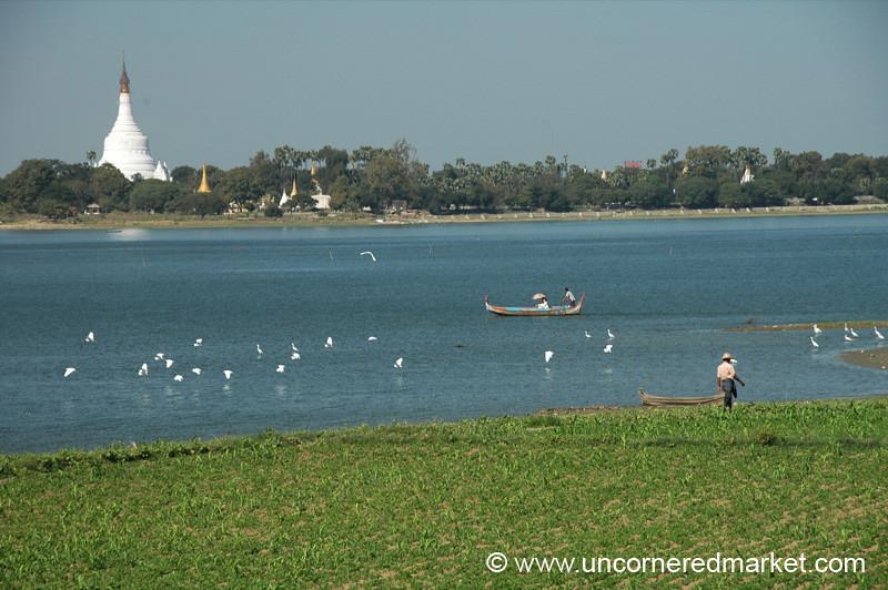 Beautiful Pond - Mandalay, Burma