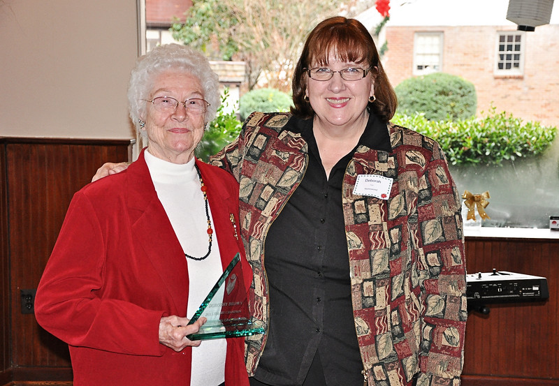 Dorothy Brown receives her Library Champion Award from Deborah Fout.jpg