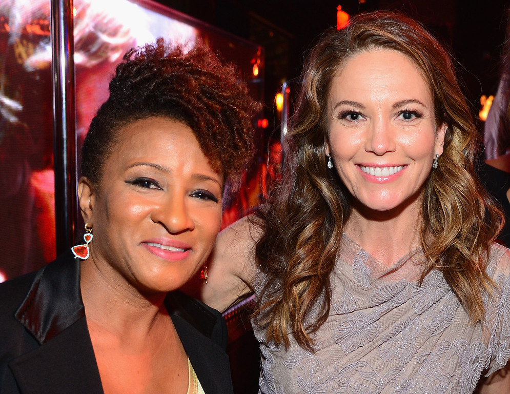 . HOLLYWOOD, CA - JUNE 05:  Actresses Wanda Sykes (L) and Diane Lane attend the 2014 AFI Life Achievement Award: A Tribute to Jane Fonda After Party at the Dolby Theatre on June 5, 2014 in Hollywood, California. Tribute show airing Saturday, June 14, 2014 at 9pm ET/PT on TNT.  (Photo by Frazer Harrison/Getty Images for AFI)