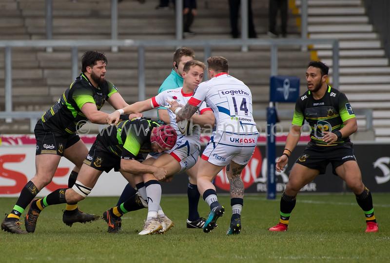 Sale Sharks vs Northampton Saints, Anglo Welsh Cup, AJ Bell Stadium, 27 January 2018