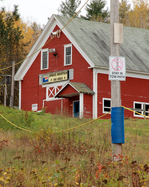 "Spruce Mountain Ski Area ""Barn,"" Jay/Livermore Falls, ME"