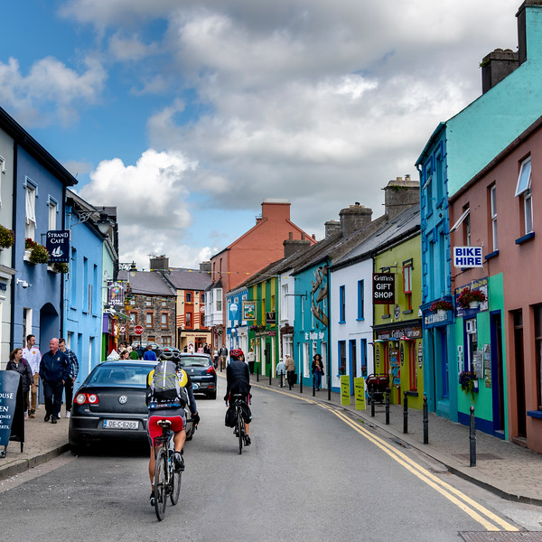 Street scene, The Colony, Dingle, County Kerry, Republic of Ireland