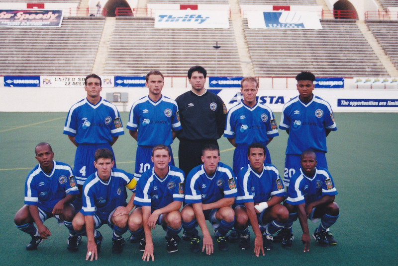 New York Freedoms starting lineup for the semifinal vs Chicago Sockers. The Spokane Shadow hosted the 1999 PDL Final Four and finished as runners-up to Chicago.