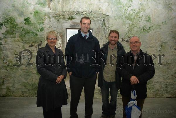 NI Environment Minister visits Narrow Water Castle Keep